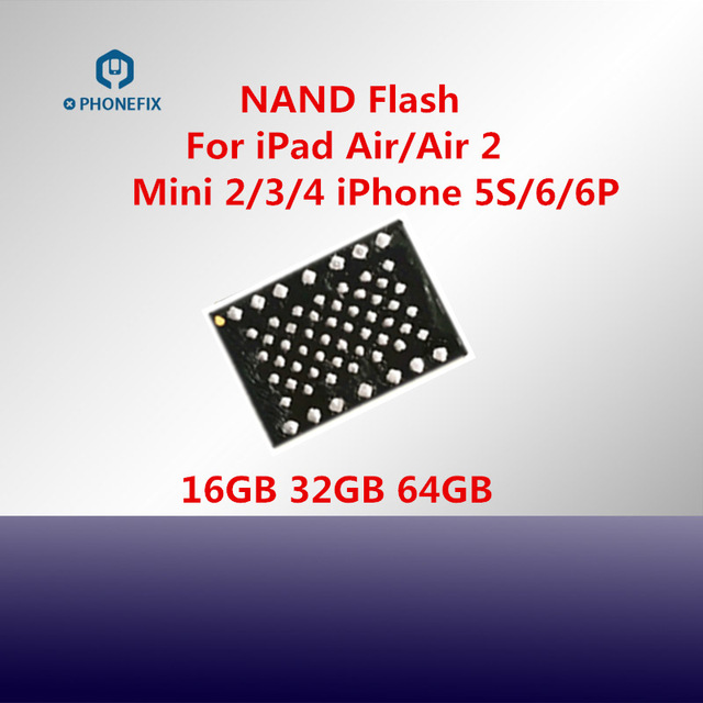 64G 128G for iPad Air 1 Air 2 Mini 2 3 4 & iPhone 5S 6 6P Nand Flash IC Memory Upgrade Hard Disk HDD IC Chips Replacement Parts