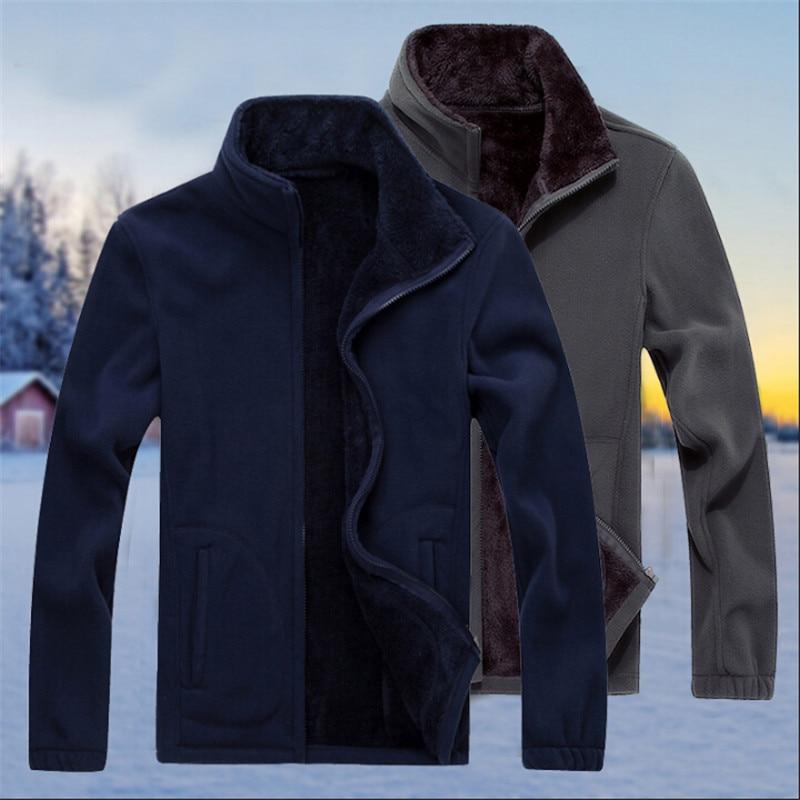 Grande taille 7Xl homme polaire lâche vestes automne printemps manteaux Manche Longue homme hiver vestes décontractée et manteaux W91174