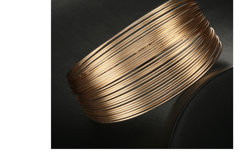 CWEEL Fashion Open Bangles For Women Christmas Gifts Vintage Round Dubai Gold Color Bangles Metal Party Cuff Bracelets Jewelry (5)