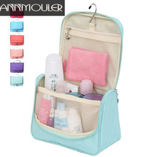 Annmouler Brand Women Men's Cosmetic Bag Makeup Organizer Case Oxford Travel Bag 4 Colors Storage Bag Portable Makeup Handbag