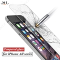 HCCZ 2.5D Премиум Закаленное стекло для iPhone 6 6 s 7 Плюс протектор экрана стекло пленка для iPhone 5s 5 SE 5C взрывозащищенные стекла