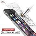 Hccz 2.5d premium vidrio templado para el iphone 6 6 s 7 plus protector de pantalla de cristal de cine para iphone 5s 5 se 5c a prueba de explosiones vidrio