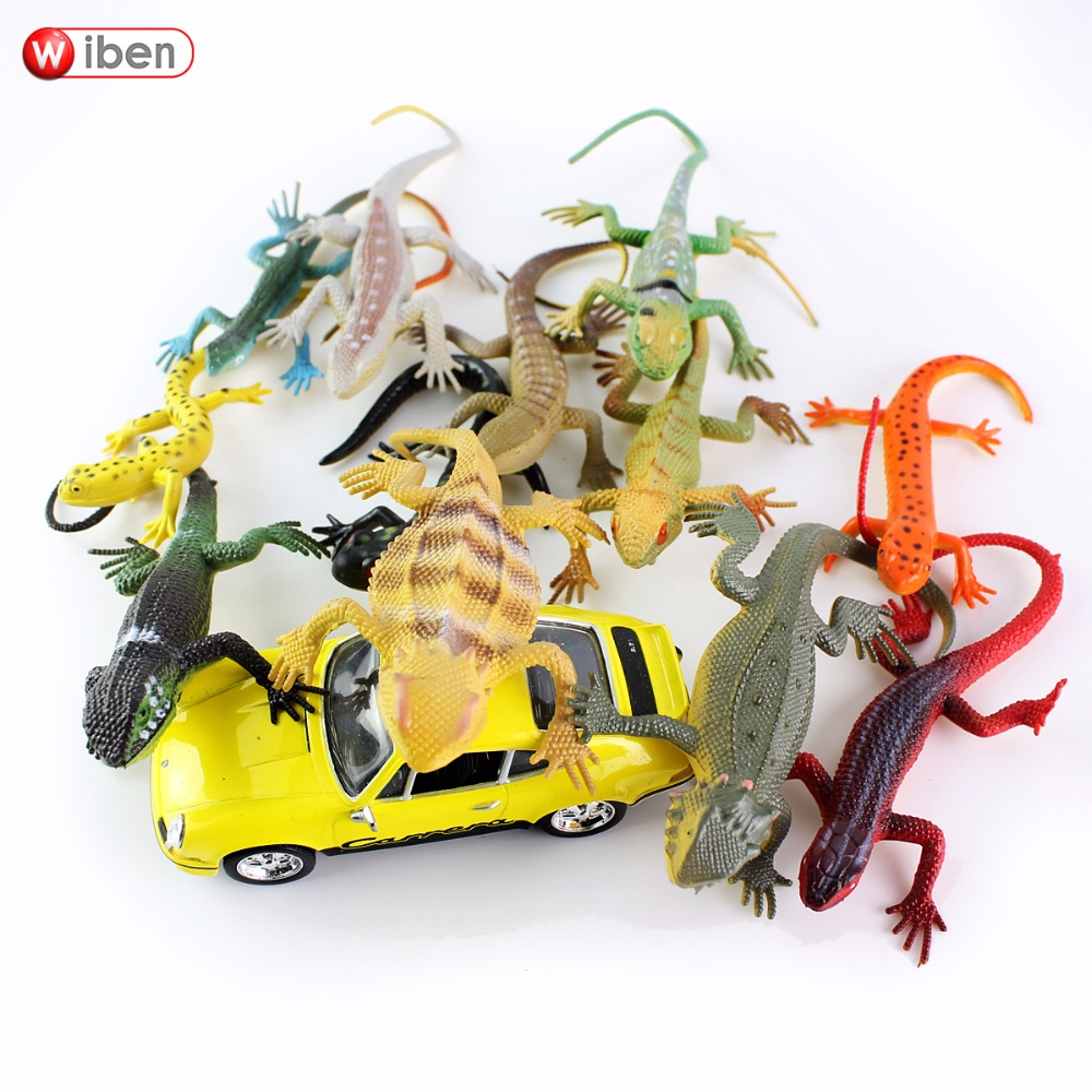 Wiben 12pcs/lot Mini Lizard Insects Toy Action & Toy