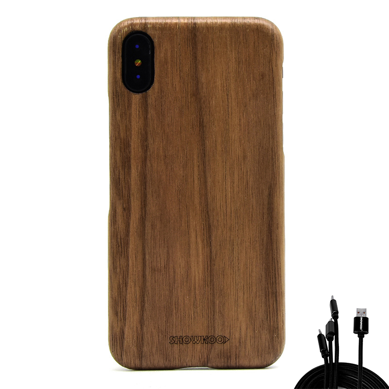 Showkoo 100% Original Wooden Case For iPhone X(10) Rosewood Ebony Wood For iPhone X Protective Case Wholesale and Retail