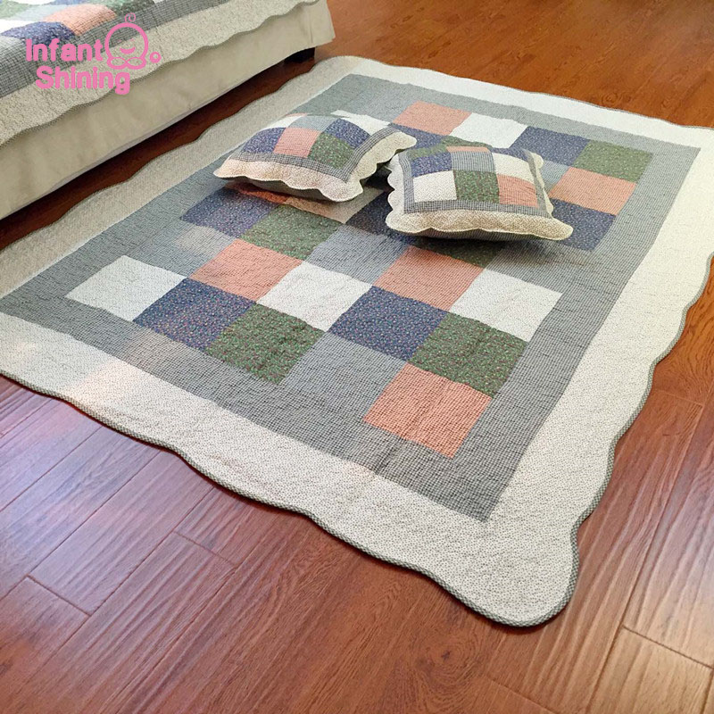 Infant Shining Tatami Baby Play Mat Cotton Carpet Kid's Puzzle Exercise Play Mat Living Room Bedroom Rugs Machine Washable