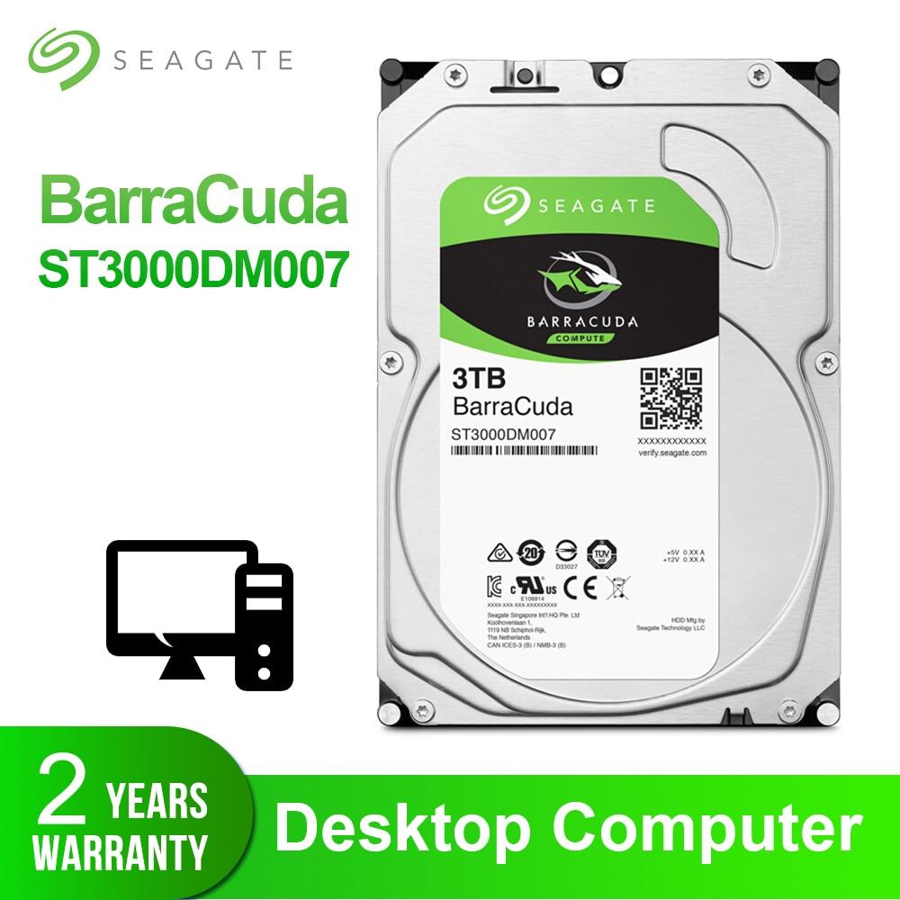 Disque dur interne Seagate 3.5 ''3 to HDD de bureau disque dur d'origine 3 to 5400RPM SATA 6 Gb/s pour ordinateur ST3000DM007