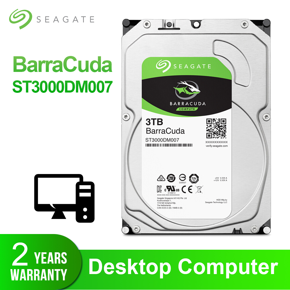 Seagate 3.5 3TB Desktop HDD Internal Hard Disk Drive Original 3TB 5400RPM SATA 6Gb/s Hard Drive For Computer ST3000DM007Seagate 3.5 3TB Desktop HDD Internal Hard Disk Drive Original 3TB 5400RPM SATA 6Gb/s Hard Drive For Computer ST3000DM007