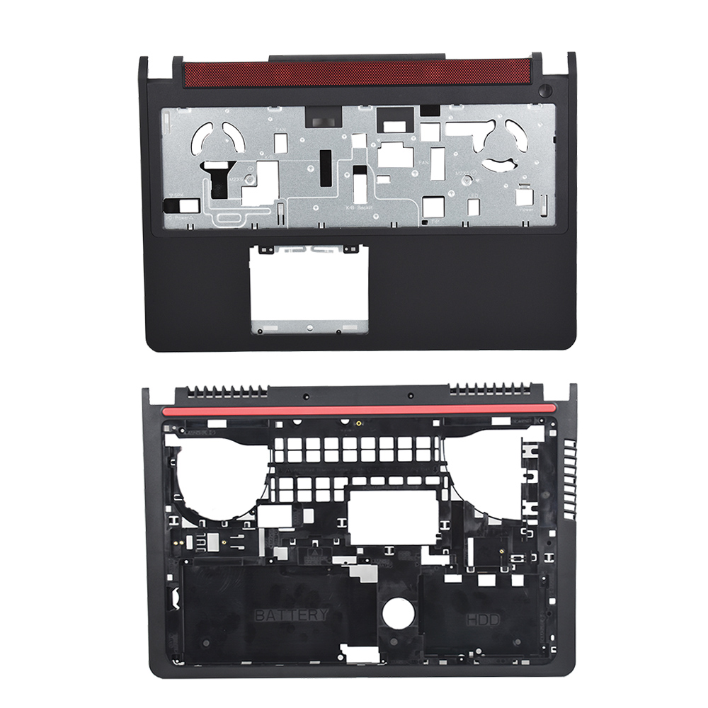 New forInspiron <font><b>15</b></font> 7000 <font><b>7559</b></font> Upper Palmrest + Bottom Case Cover 08FGMW For <font><b>Dell</b></font> image