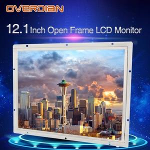 """Image 4 - 12 """"인치 디스플레이 1400*1050 산업용 LCD 모니터 VGA/DVI/USB 인터페이스 고해상도 금속 쉘 쿨 저항 터치 스크린"""