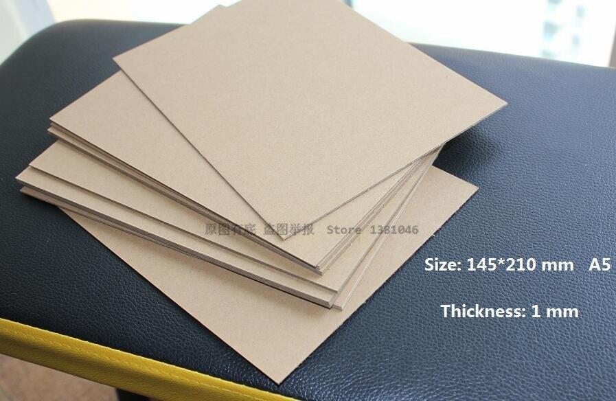 1mm 40pt Kraft Chipboard Sheets Heavy Duty Cardboard Size 210*145mm 2/10/20/30pcs You Choose Quantity
