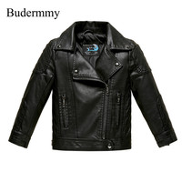 Autumn Jacket For Girls Boys Leather Jackets Pink Red Black Winter Windbreaker For 2 3 4