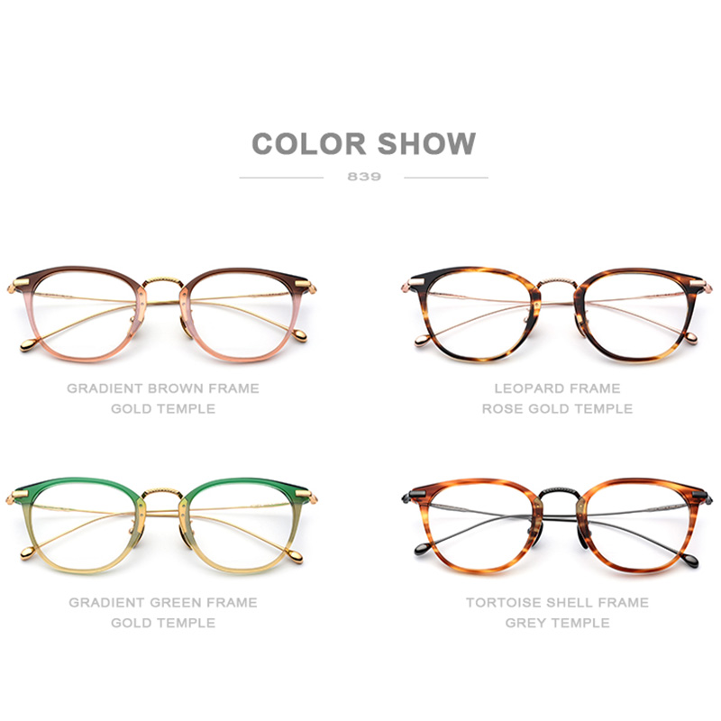 Image 5 - Pure B Titanium Optical Glasses Frame Men Vintage Square Prescription Eyeglasses Women Retro Round Myopia Spectacles Eyewear 839-in Women's Eyewear Frames from Apparel Accessories