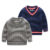 Bebé de sexo masculino suéter pullovers boy niños de los niños ropa de primavera
