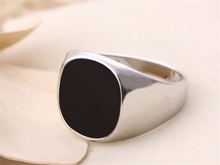 YANHUI Hot Sale Fashion Menu0027s Black Wedding Rings For Men With 18KRGP Stamp  Gold Color Black Onyx Stone Ring Men Jewelry R0378 In Rings From Jewelry ...