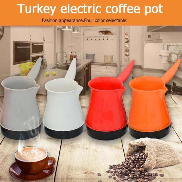 1pc Electric Coffee Pot Stainless Steel Water Kettle 500w Turkish Maker Mocha