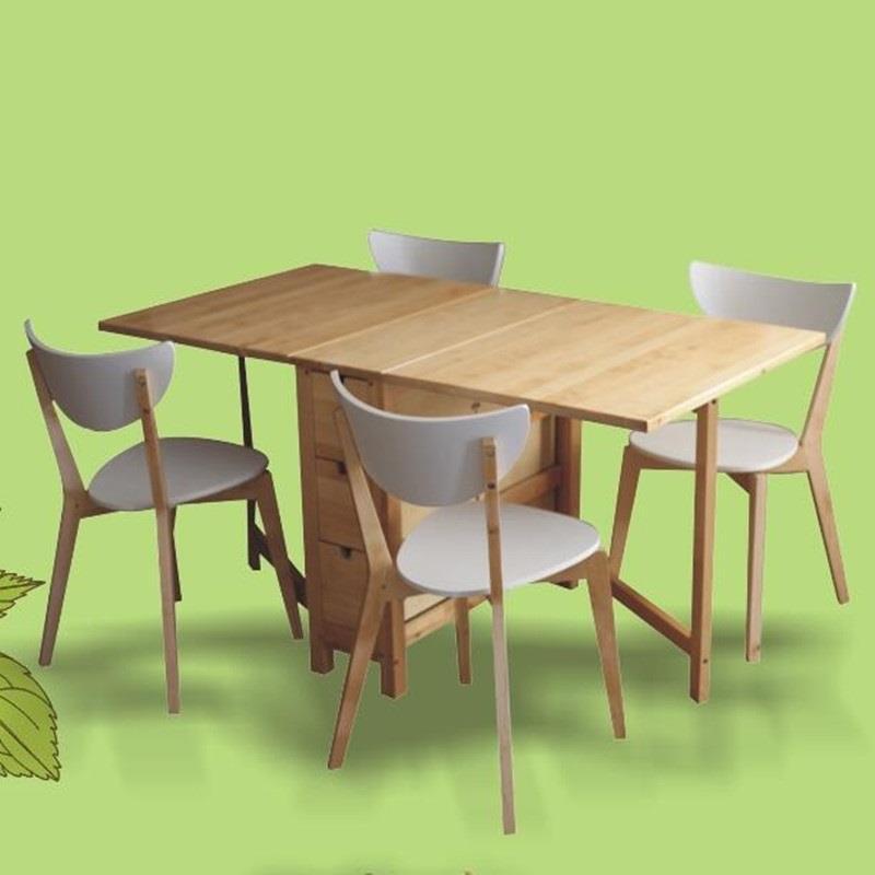 Piknik Masa Sandalye Dinning Set De Jantar Escrivaninha Yemek Masasi Retro Wooden Folding Bureau Desk Mesa Comedor Dining Table in Dining Tables from Furniture