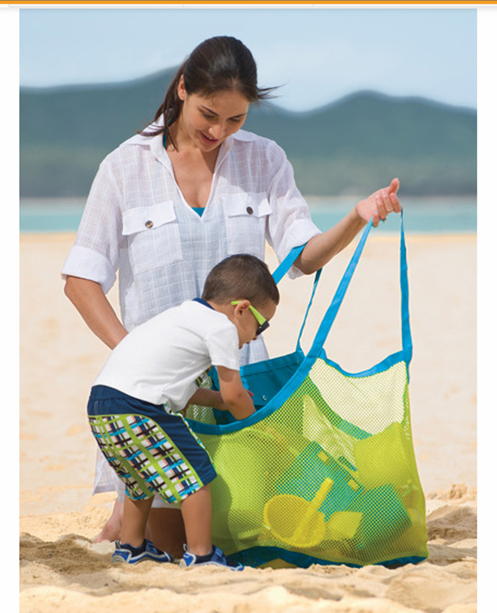 45cm-Thick  Mesh Bag Tote (Swim, Toys, Boating. Stay Away From Sand Portable Children's waterproof  Kids Shell storage