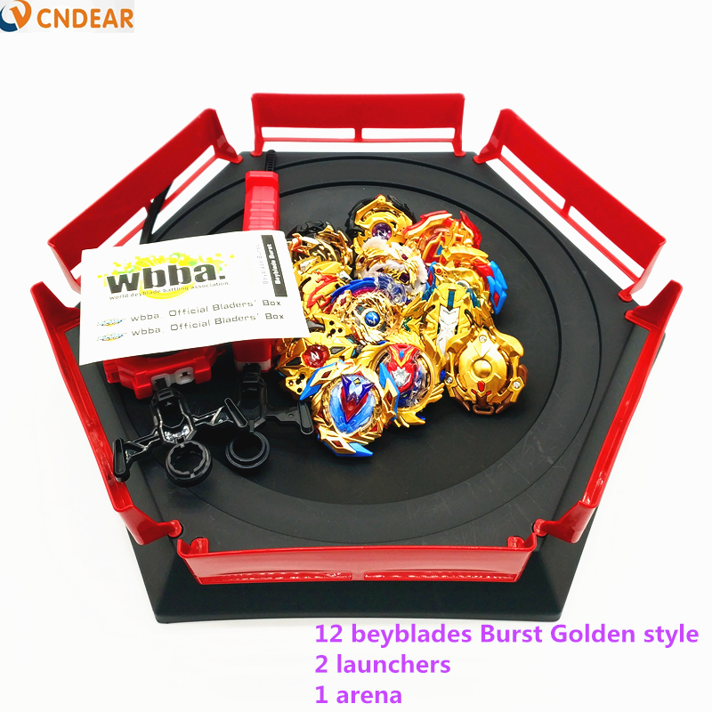 Gold Series Beyblade Burst Toys With Launcher Starter and Arena Bayblade Metal Fusion God Spinning Top Bey Blade Blades Toys