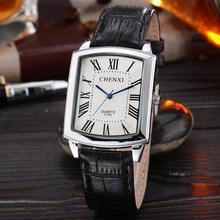 Couple Woman men Casual Watches Luxury Brand Square Dial Fashion Leather Strap Lover's Dress Quartz Clocks Relogios Femininos