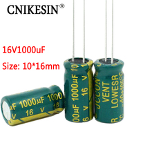 CNIKESIN 50PCS 16V1000UF For SANYO high frequency low resistance long life plug electrolytic capacitor 1000UF 16V 10X16mm(China)