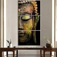 Phật Đầu Bức Chân Dung Painting In On Canvas Tôn Giáo Tường Nghệ Thuật Vẽ Tranh Nội Thất Cổ Điển Trang Trí Tường Trang Trí drop ship