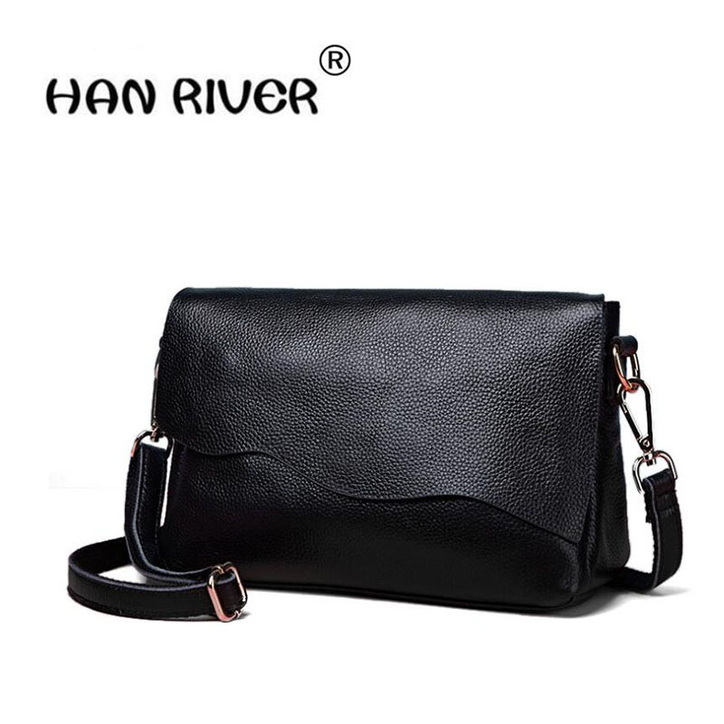HANRIVER The new season of high - end style of the high-end real leather simple slanting trend of women's single shoulder bag the end of the affair