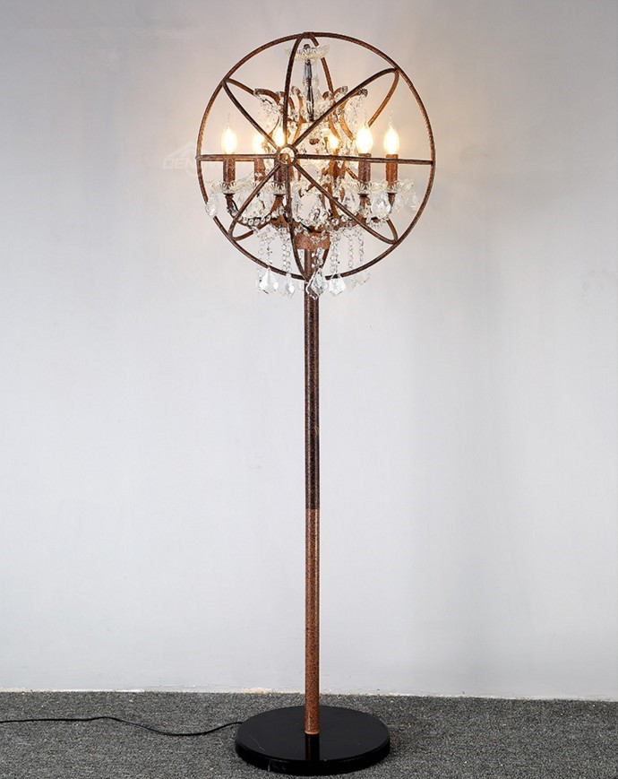 Vintage Loft Floor Lamp Retro Industrial Metal Crystal Sphere Shape Head Floor  Lamp In Floor Lamps From Lights U0026 Lighting On Aliexpress.com | Alibaba Group