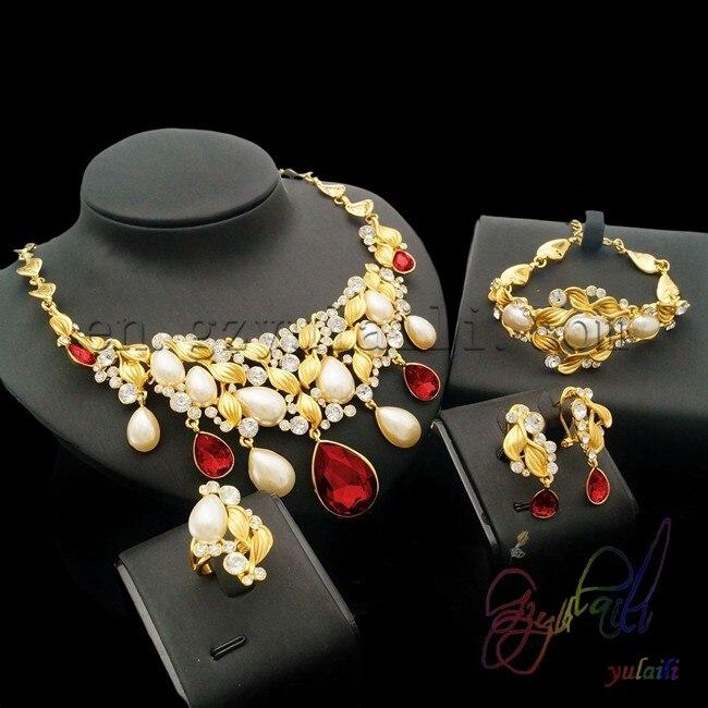 Ensemble de bijoux de couleur or dubai le plus populaire bijoux kundan ensemble de collier de mariage de mariée artificielle