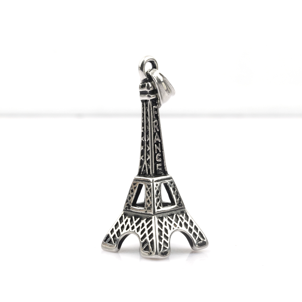 Vinatge High Quality Stainless Steel Pendants Long Chain Necklace Eiffel Tower Necklace Pendants Jewelry Collier Femme Wholesale in Chain Necklaces from Jewelry Accessories