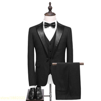 Custom made new brand collar patchwork mens classic suits plus size groom wedding suit 3 pieces 7XL 8XL 9XL 10XL