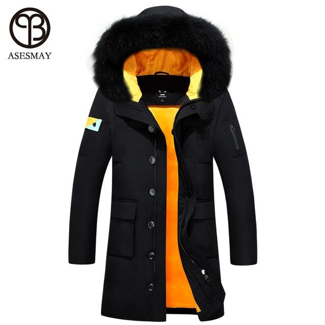 Asesmay 2016 men coat parka men down coat new fashion winter down jacket wellensteyn long down waterproof duck down jacket