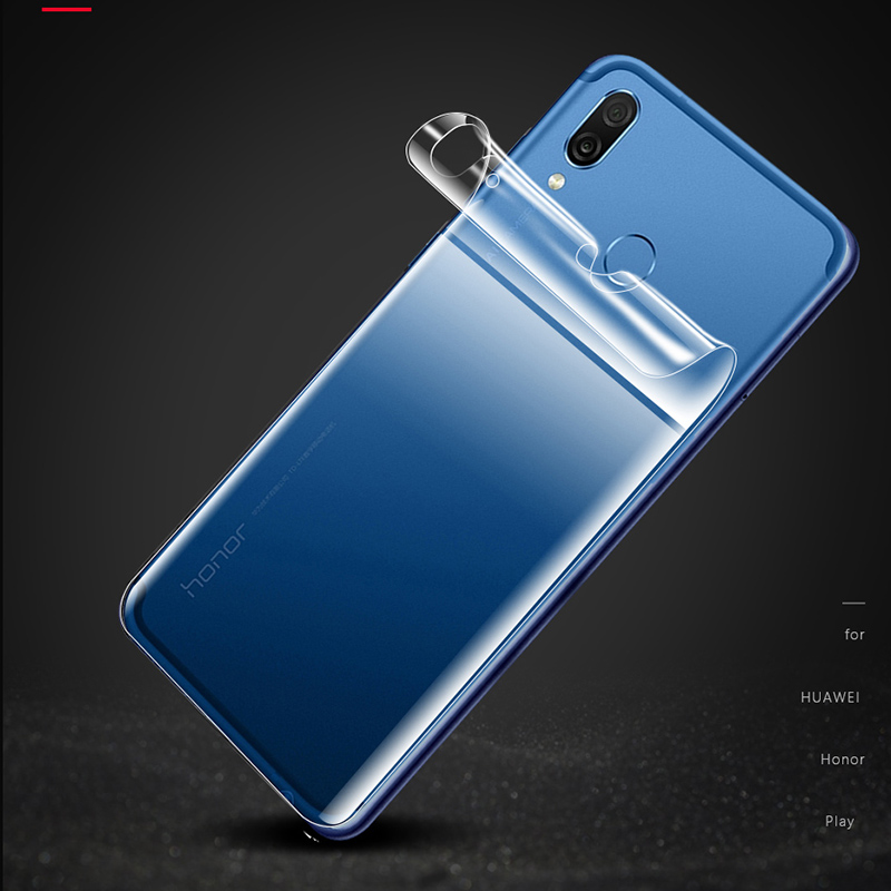 Screen Protector SUS 25 PCS Soft Hydrogel Film Full Cover Front Protector with Alcohol Cotton Scratch Card for Huawei Honor Play Huawei