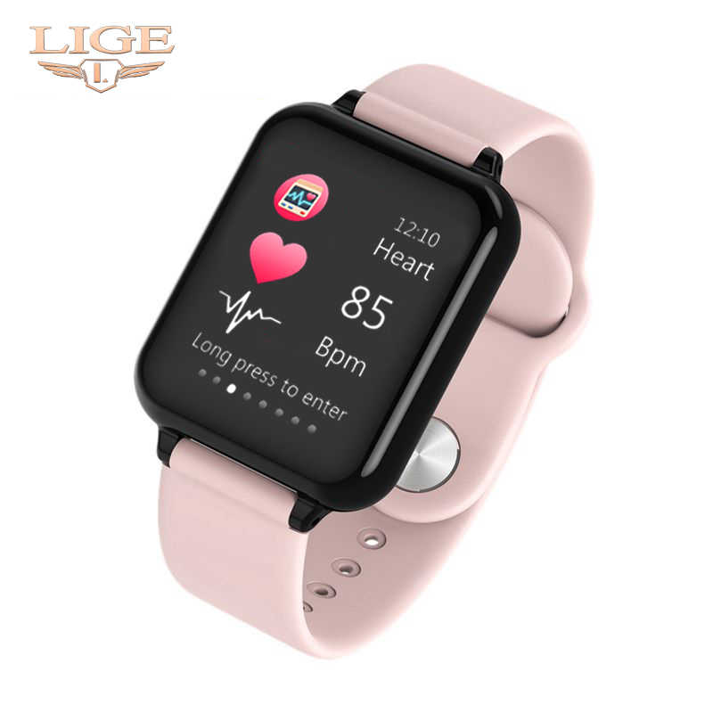 Women Smart watches Waterproof Sports For Iphone phone Smartwatch Heart Rate Monitor Blood Pressure Functions For kid pk iwo+Box