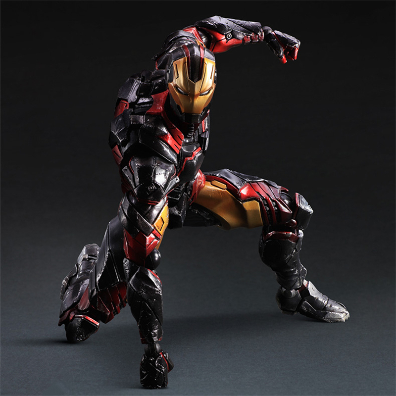 Variant Play Arts Kai Marvel The Avengers Superheroes Iron Man PVC Action Figure Collectible Model Toys Doll 24cm SHAF008 super street fighter iv akuma gouki white variant play arts kai action figure