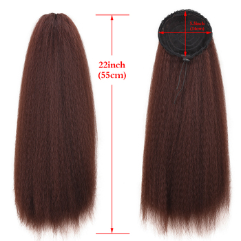 Long Afro Puff Ponytail Hair with Drawstring and Clip Elastic Band