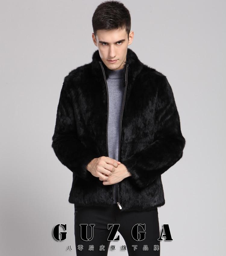Plue Размер XXXL 4XL мужские меховые пальто искусственные куртки из кроличьего меха зимняя мода мужской искусственный меховое пальто; парка ветровка пальто