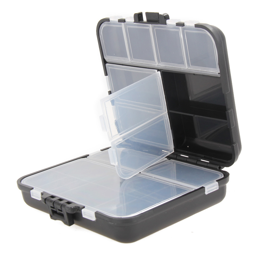 26 Grids Fly Fishing Box Plastic Storage Case Lure Spoon Hook Bait Tackle Connector Pesca Waterproof Fishing Tackle Boxes