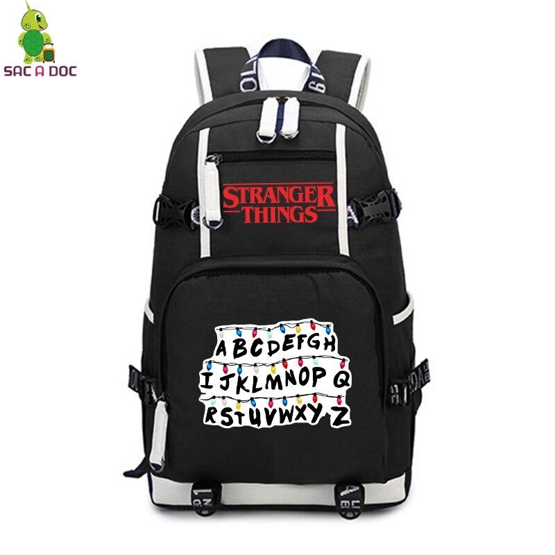 Stranger Things Luminous Backpack School Bags for Teenagers Travel Rucksack Collage Students Large Capacity Laptop BackpackStranger Things Luminous Backpack School Bags for Teenagers Travel Rucksack Collage Students Large Capacity Laptop Backpack