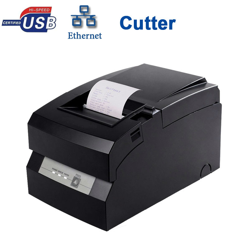 DOT MATRIX USB SSERIAL LAN PORT WITH AUTO CUTTER PRINTER HS-D76USLC