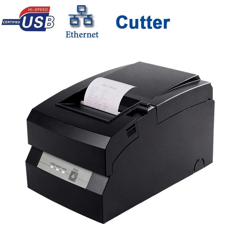 DOT MATRIX USB SSERIAL LAN PORT WITH AUTO CUTTER PRINTER HS-D76USLC