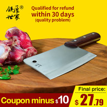 chef chopping knife stainless steel kitchen knives butcher chinese handmade bone ножи для кухни