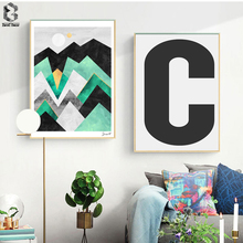 Nordic Posters and Prints Wall Art Canvas Painting Geometric Pictures For Living Room Scandinavian Decoration