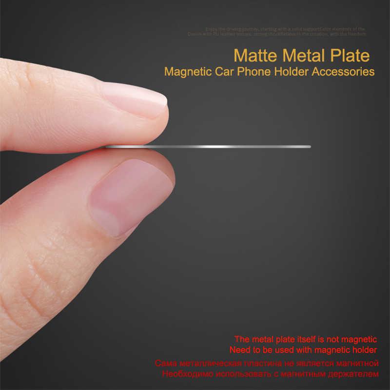 Iksnail Scrub Pelat Logam Ganti Stiker untuk Mobil Magnetik Dudukan Telepon Ultra Slim Besi Magnet Yang Kuat Berdiri Film