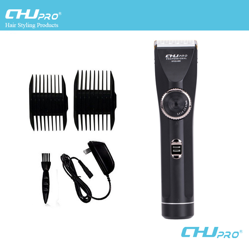 CHJ tondeuse à cheveux tondeuse pour hommes Rechargeable électrique rasoir professionnel barbe Machine de découpe à faible bruit coupe-cheveux