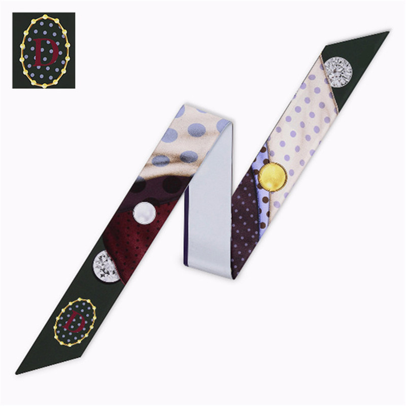 Bag Skinny Constellation   Scarf   For Women Fashion Head   Scarf   Brand Small Tie D Of 26 Letters   Scarves   Fashion Silk   Scarf     Wraps
