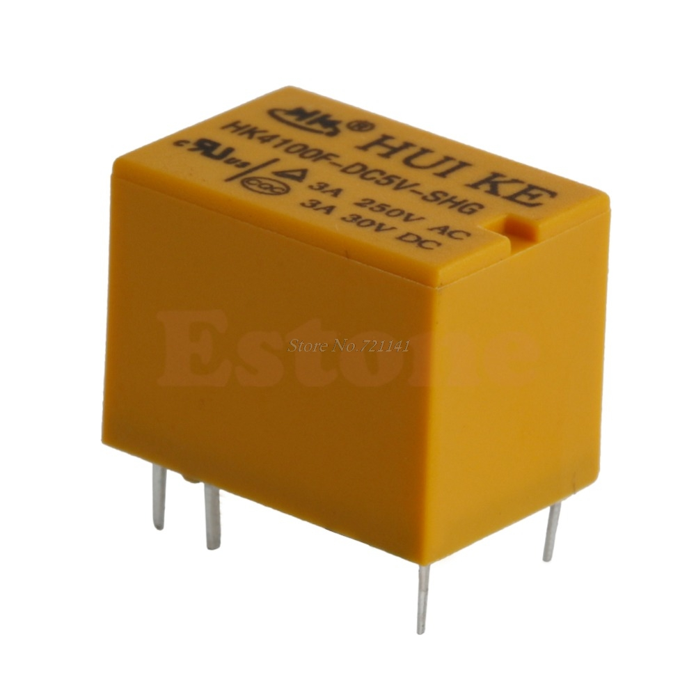 5Pcs/lot 5V Relay HK4100F-DC 5V-SHG 3A 250VAC 5VDC 6Pins