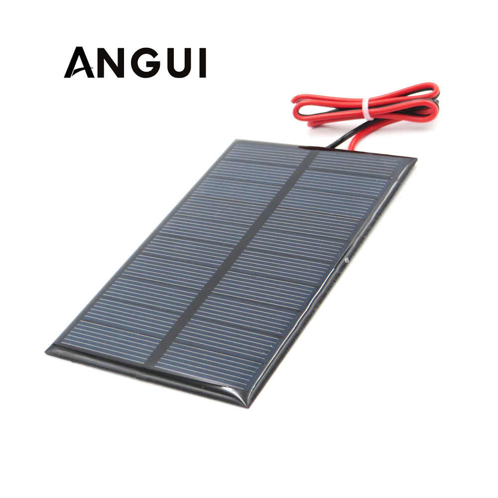 5V 250mA with 30cm extend cable Solar Panel Polycrystalline Silicon DIY Battery Charger Module Mini Solar Cell wire toy