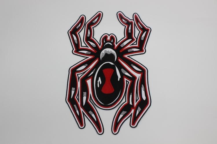 Patchs brodés pour veste arrière motard | Grande taille, patchs pour moto, énorme araignée rouge