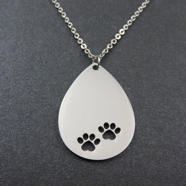 Dog paw pendant stainless steel love heart necklace pendant diy dog paw pendant stainless steel love heart necklace pendant diy logo heart charms aloadofball Gallery