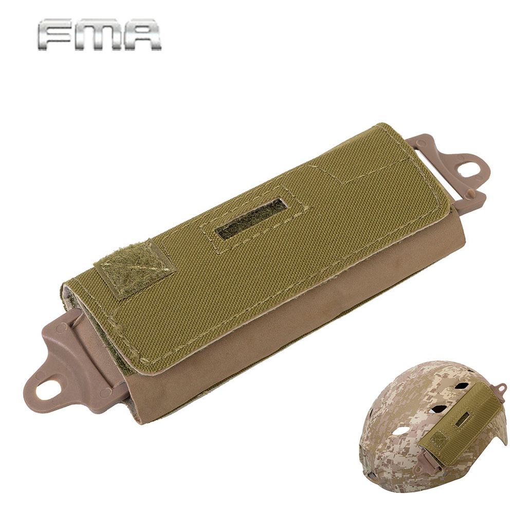 FMA Helmet Accessory Fast Rear Counterweight Pouch Bag 5 Square Brick Blocks Universal Helmet Balance Kit 3 Colors